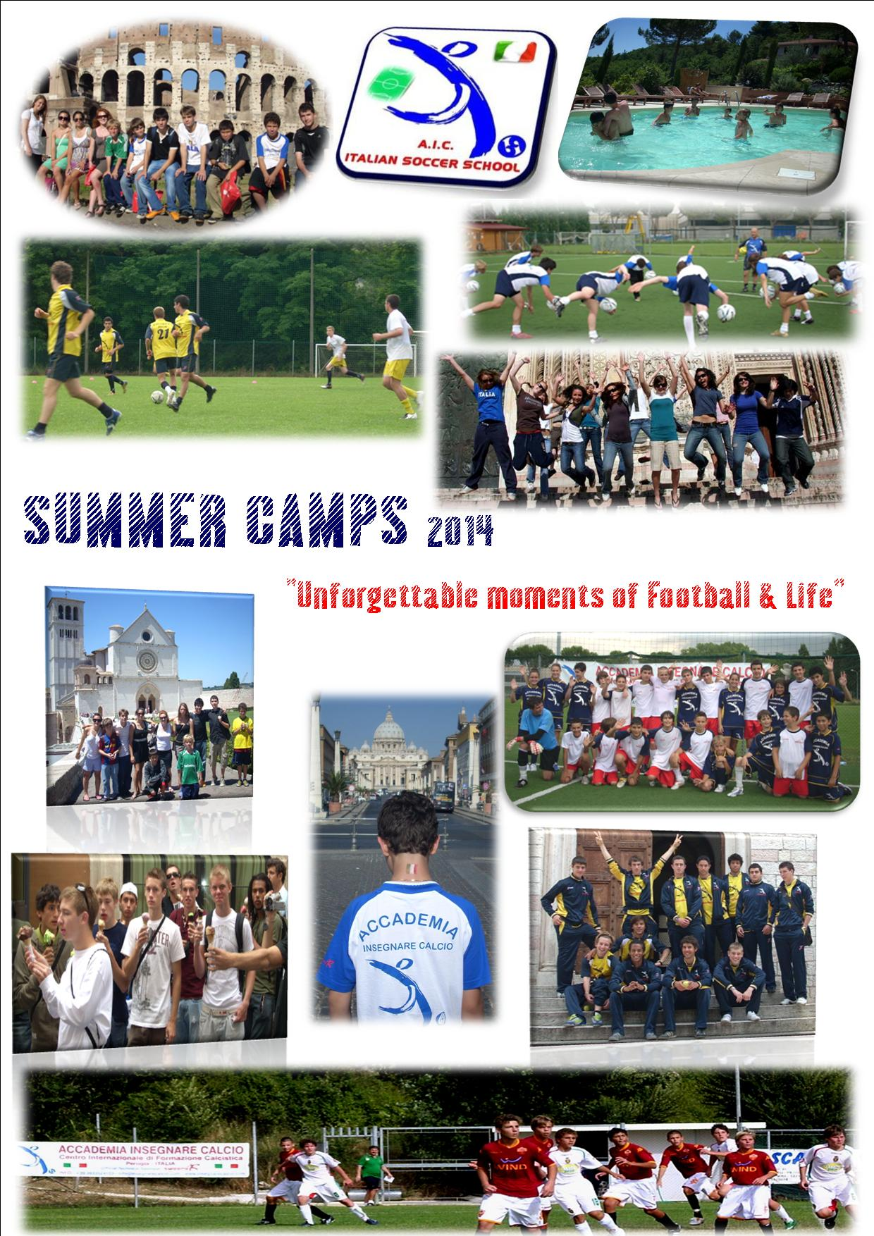 SUMMER CAMPS 2014 - PERUGIA, Italy: dates & services